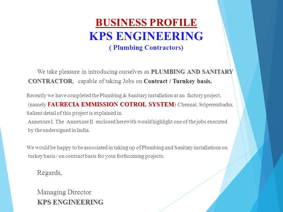 BUSINESS PROFILE KPS ENGINEERING ( Plumbing Contractors)
