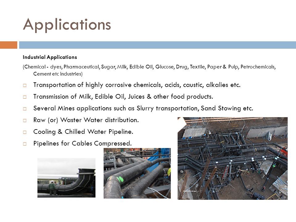 Applications Industrial Applications.