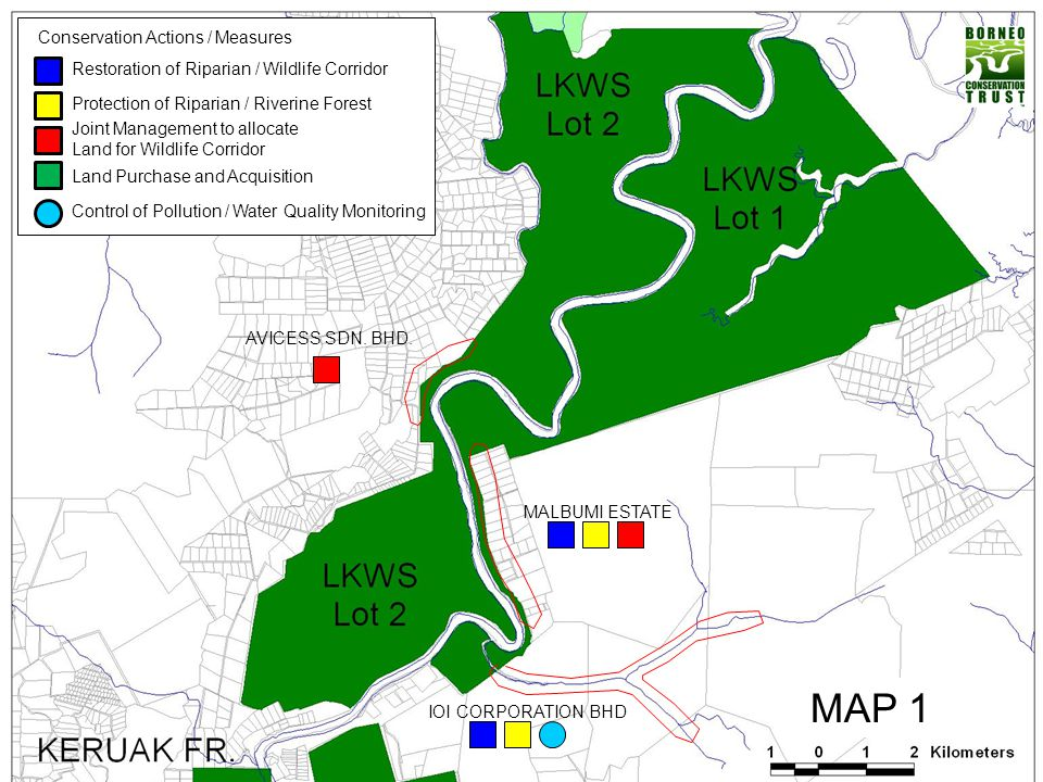 MAP 1 Conservation Actions / Measures