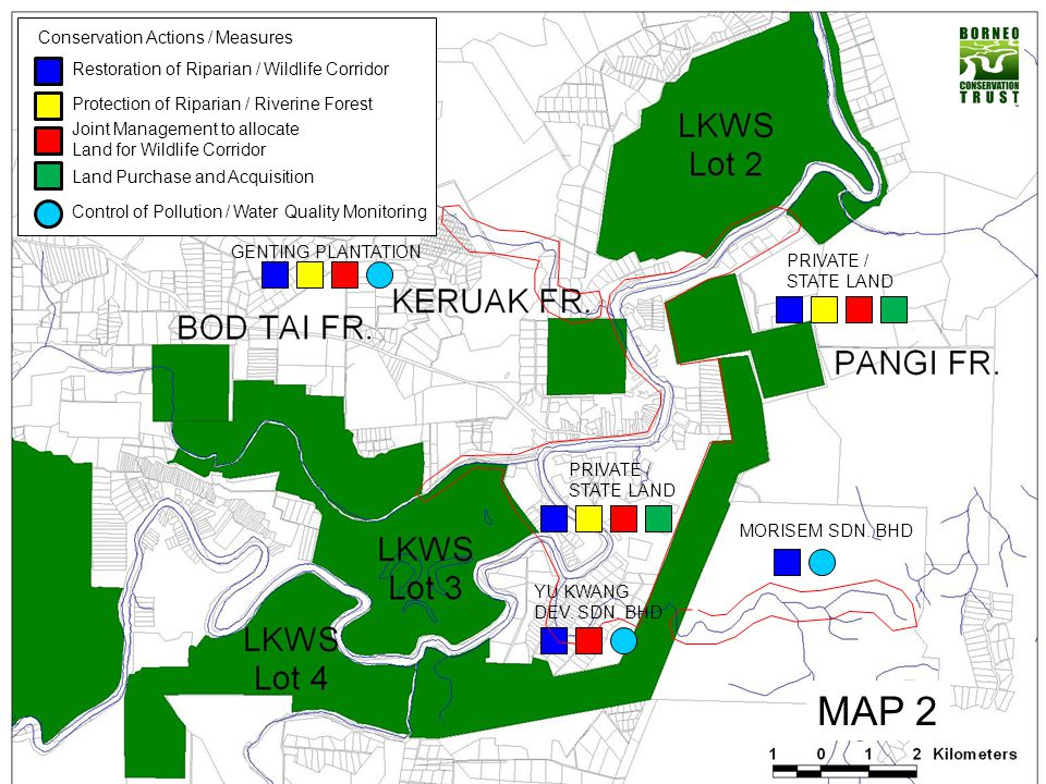 MAP 2 Conservation Actions / Measures