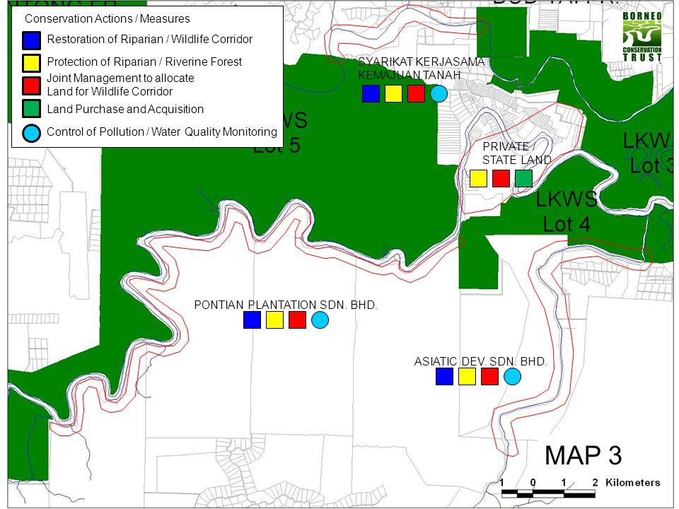 MAP 3 Restoration of Riparian / Wildlife Corridor