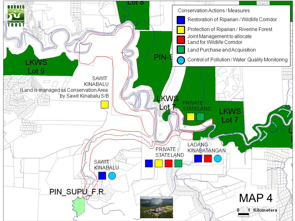 MAP 4 Conservation Actions / Measures