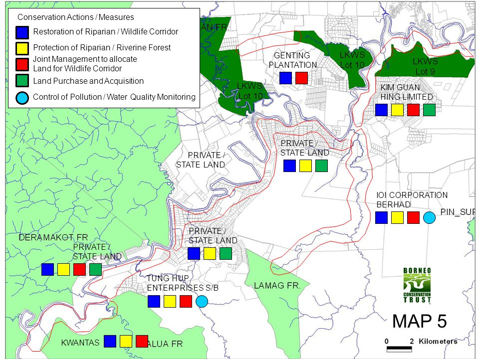 MAP 5 Conservation Actions / Measures