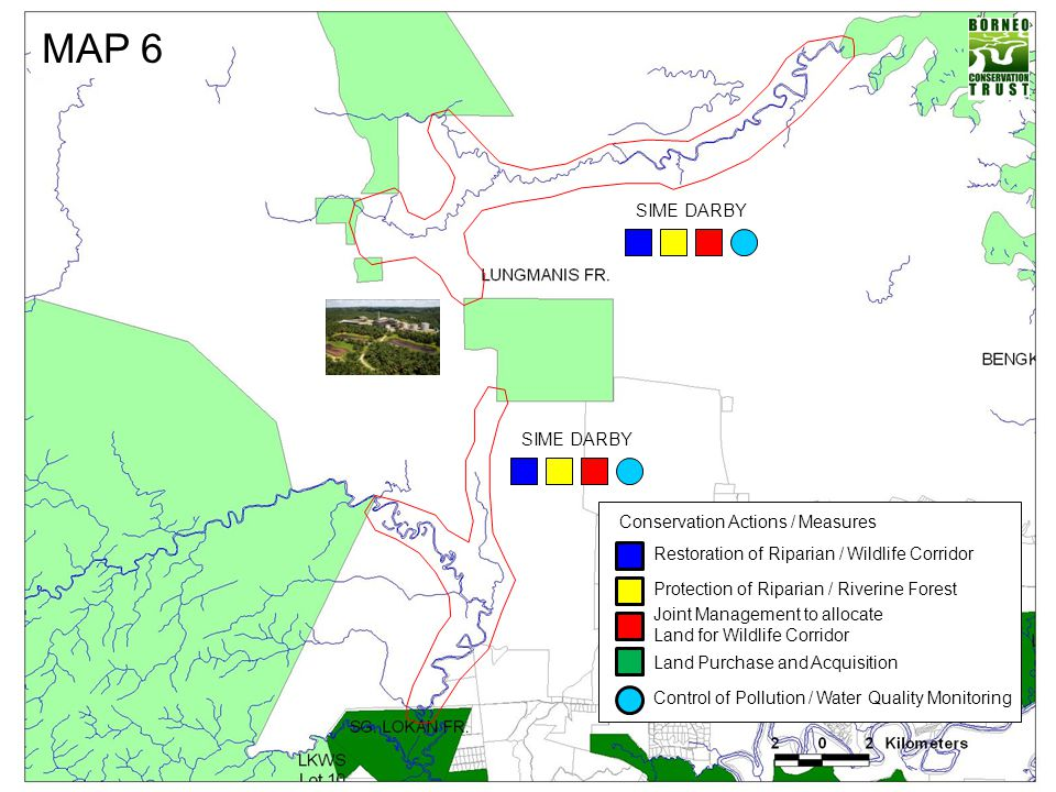 MAP 6 SIME DARBY SIME DARBY Conservation Actions / Measures