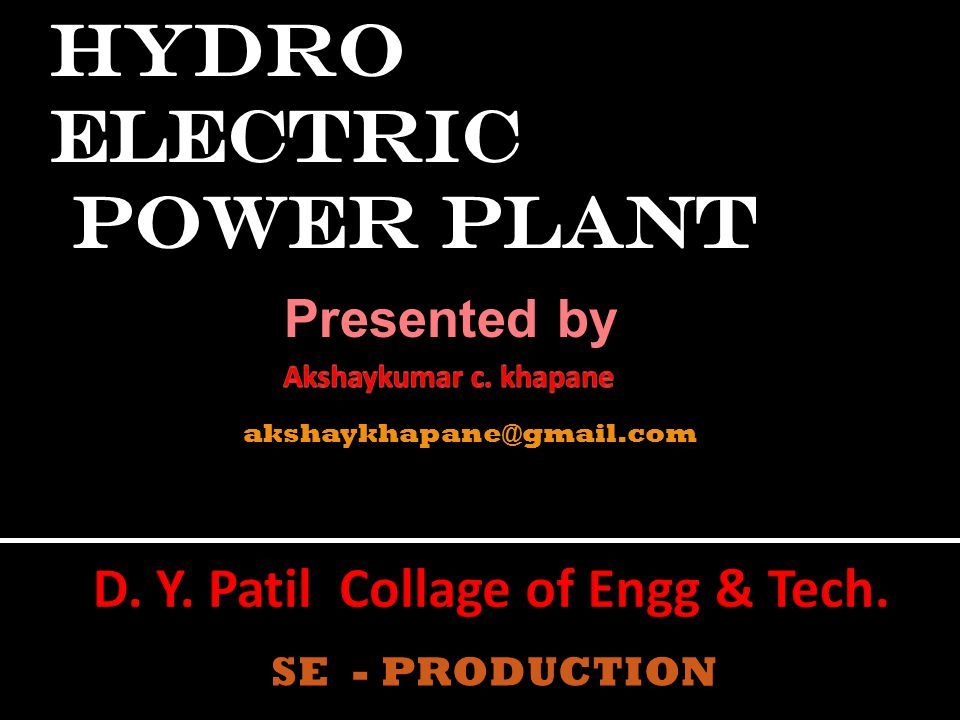 D. Y. Patil Collage of Engg & Tech.