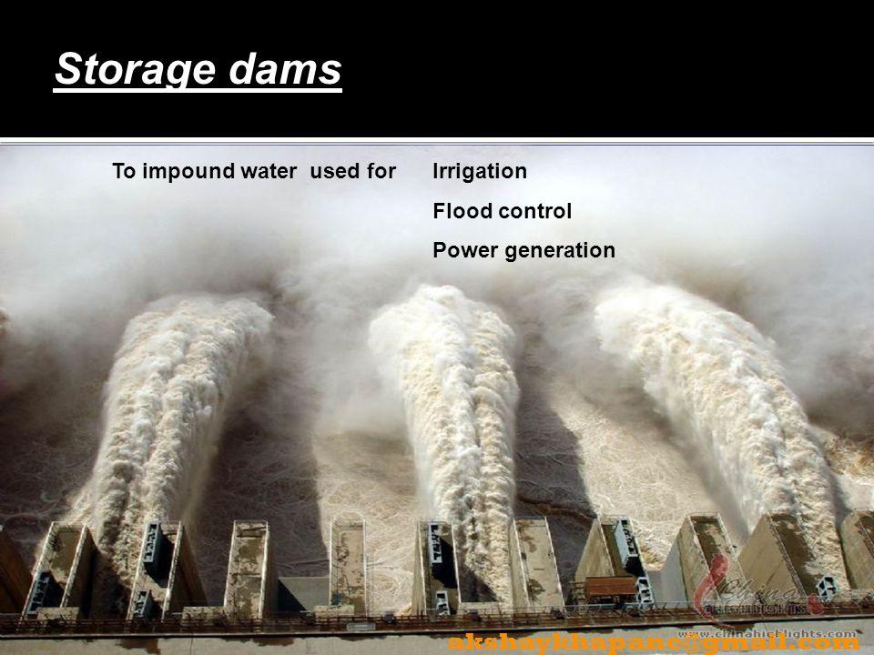 Storage dams akshaykhapane@gmail.com