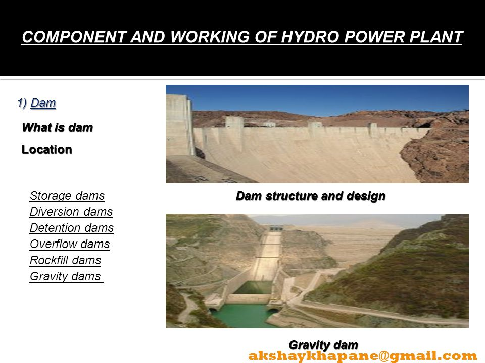 COMPONENT AND WORKING OF HYDRO POWER PLANT