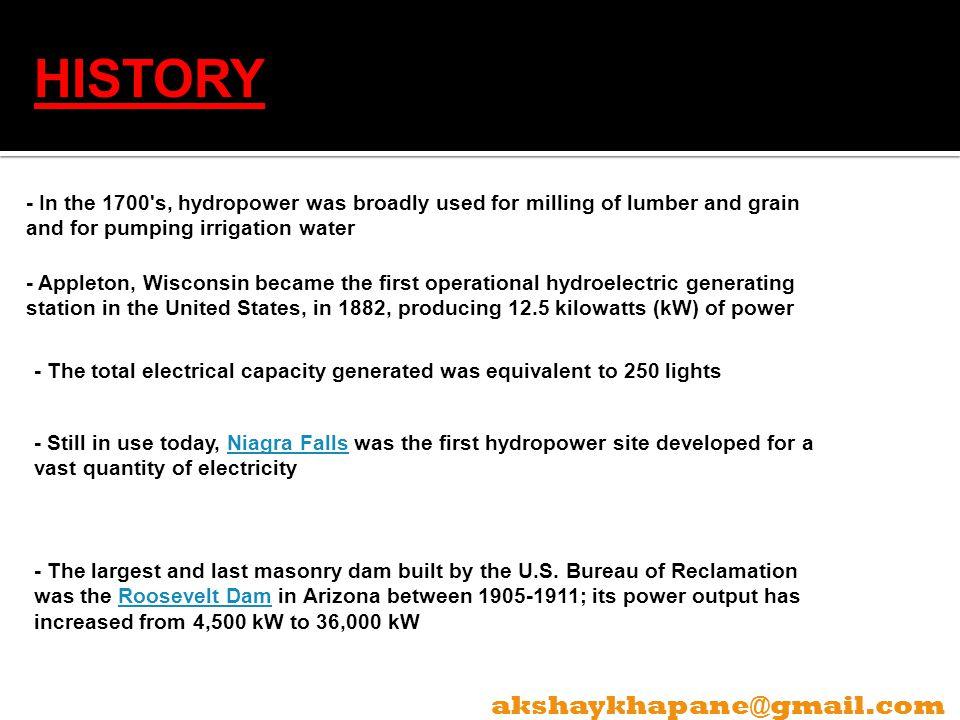 HISTORY akshaykhapane@gmail.com
