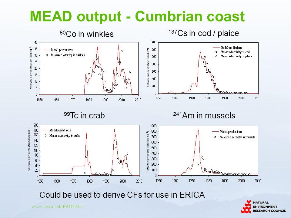 MEAD output - Cumbrian coast