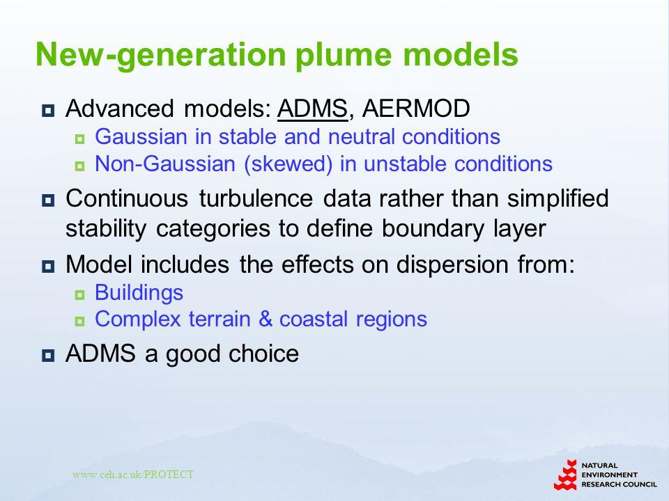 New-generation plume models