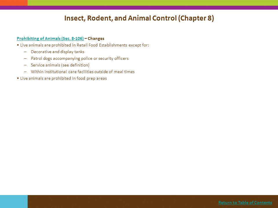 Insect, Rodent, and Animal Control (Chapter 8)