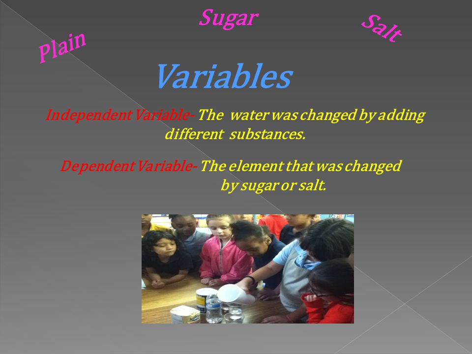 Dependent Variable- The element that was changed