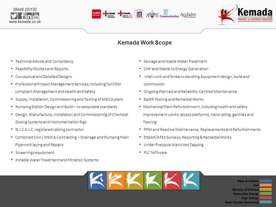 Kemada Work Scope Technical Advice and Consultancy