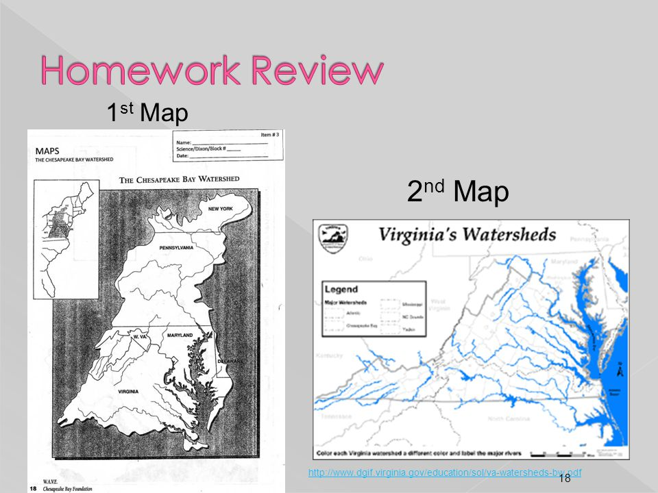 Homework Review 2nd Map 1st Map