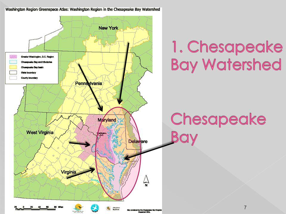 1. Chesapeake Bay Watershed Chesapeake Bay