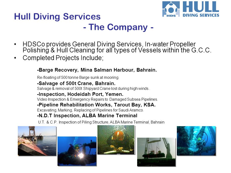 Hull Diving Services - The Company -