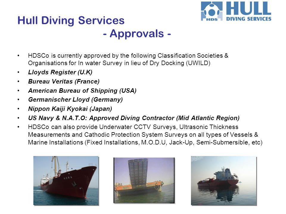 Hull Diving Services - Approvals -