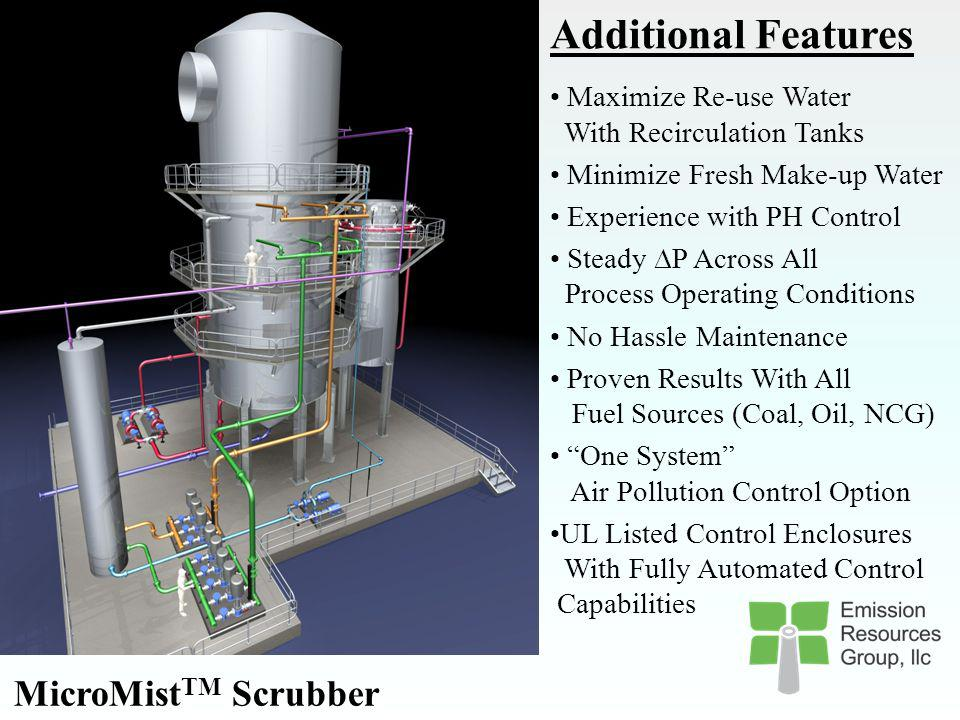 Additional Features MicroMistTM Scrubber
