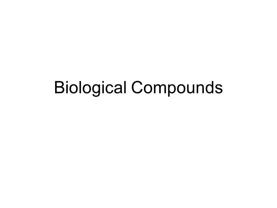 Biological Compounds
