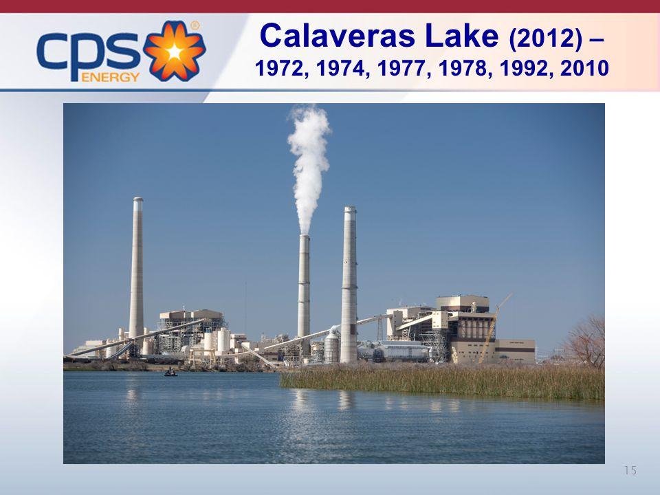 Calaveras Lake (2012) – 1972, 1974, 1977, 1978, 1992, 2010 15