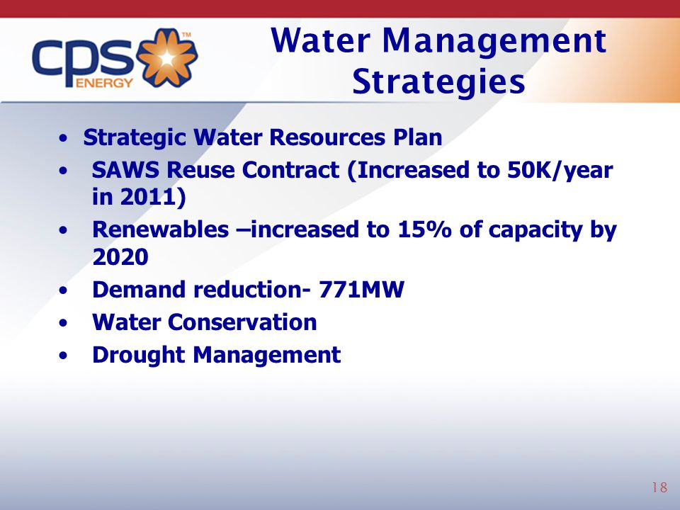 Water Management Strategies