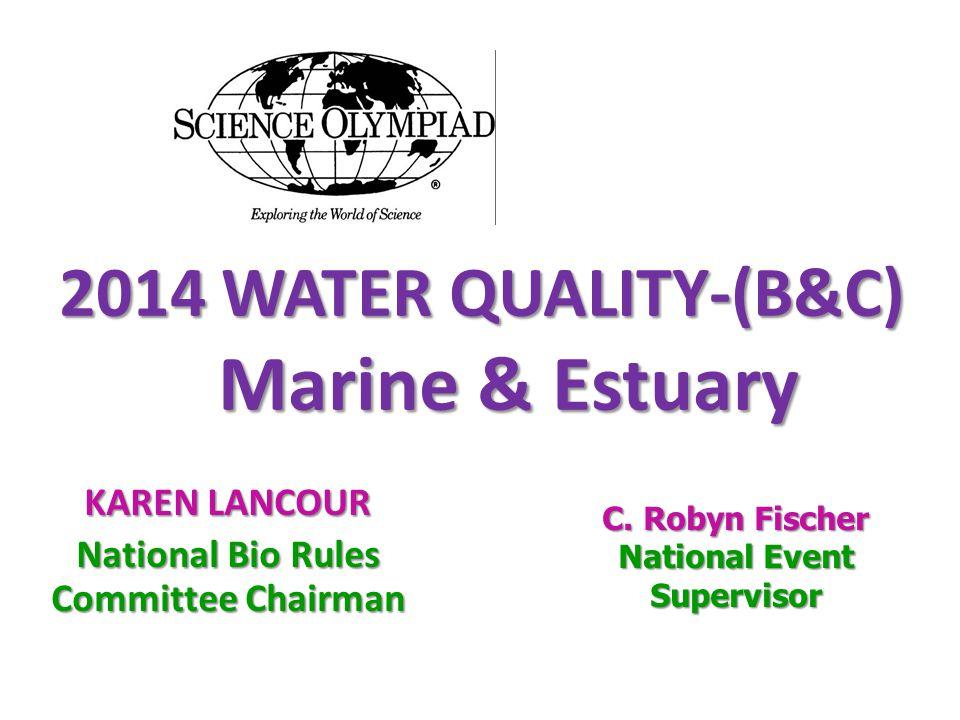 2014 WATER QUALITY-(B&C) Marine & Estuary