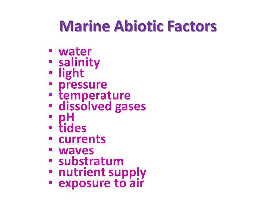 Marine Abiotic Factors