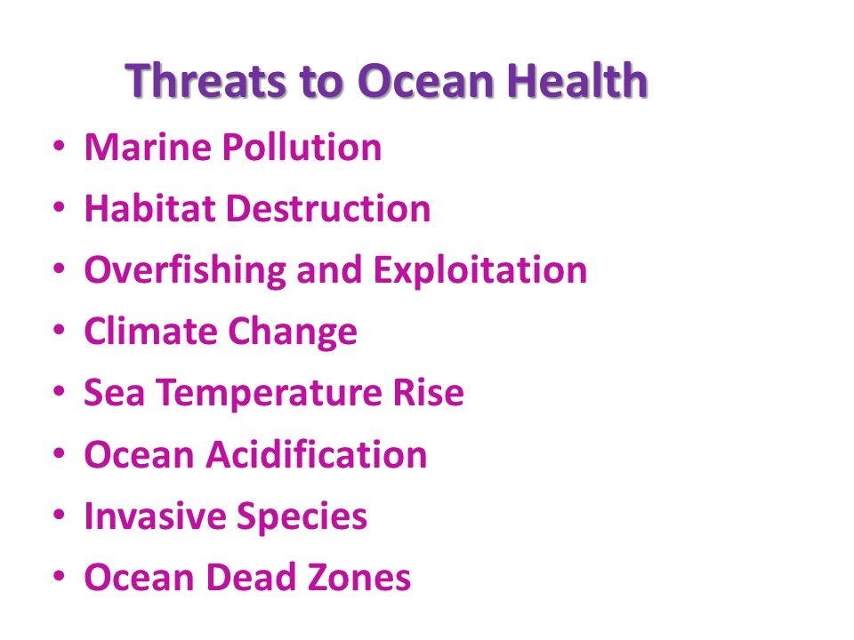 Threats to Ocean Health