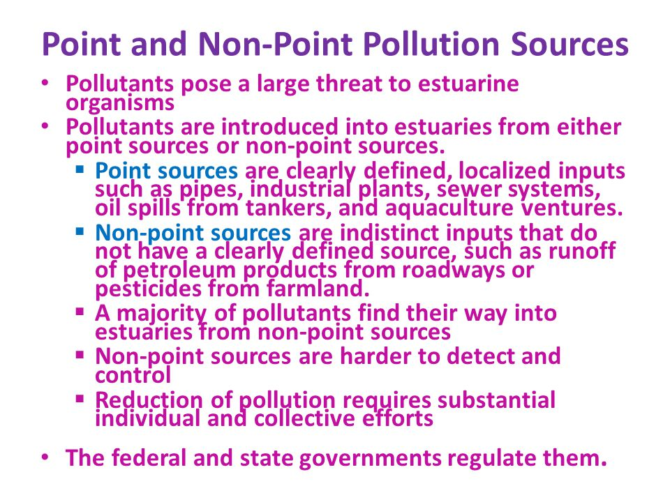 Point and Non-Point Pollution Sources