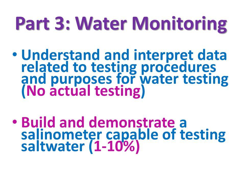 Part 3: Water Monitoring