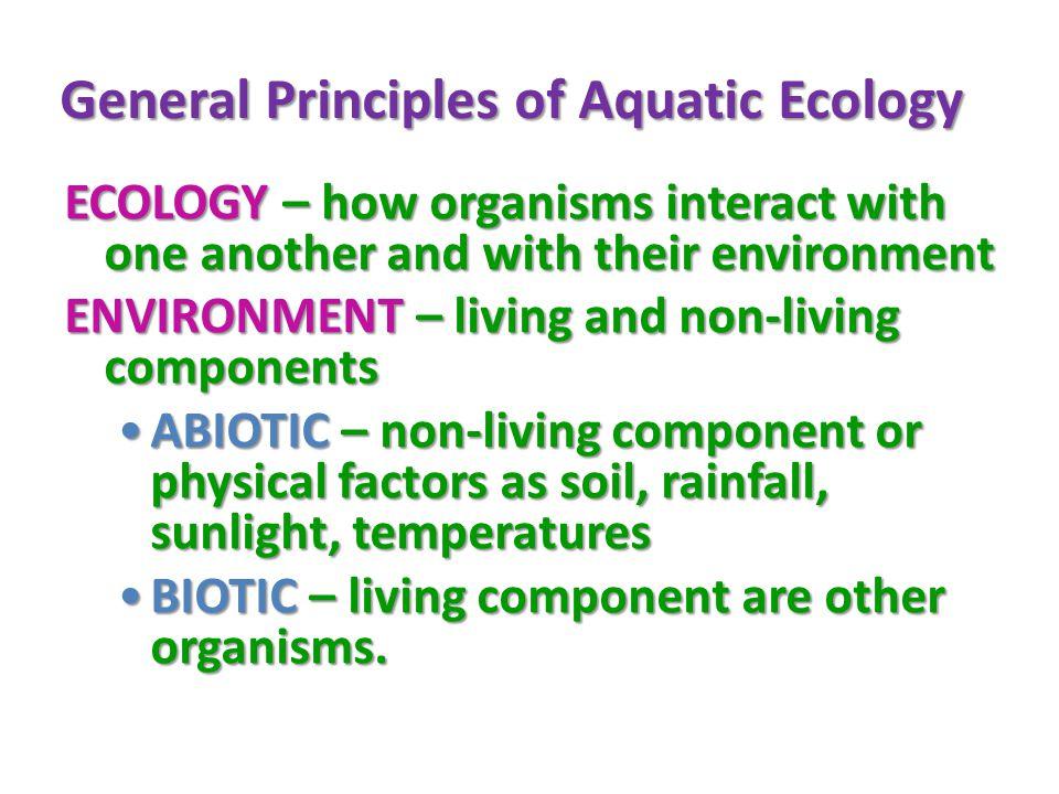 General Principles of Aquatic Ecology