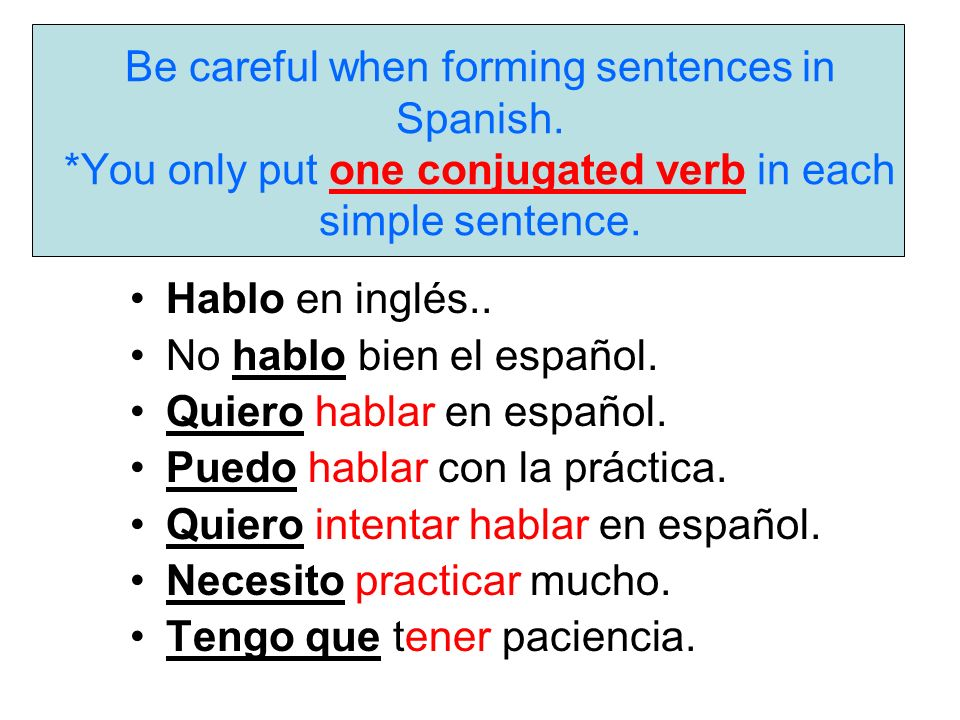 Sentence Structure Verbs and Expressions that use the Infinitive ...