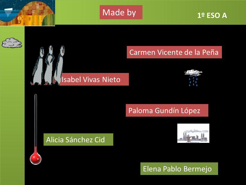 Made by 1º ESO A Carmen Vicente de la Peña Isabel Vivas Nieto