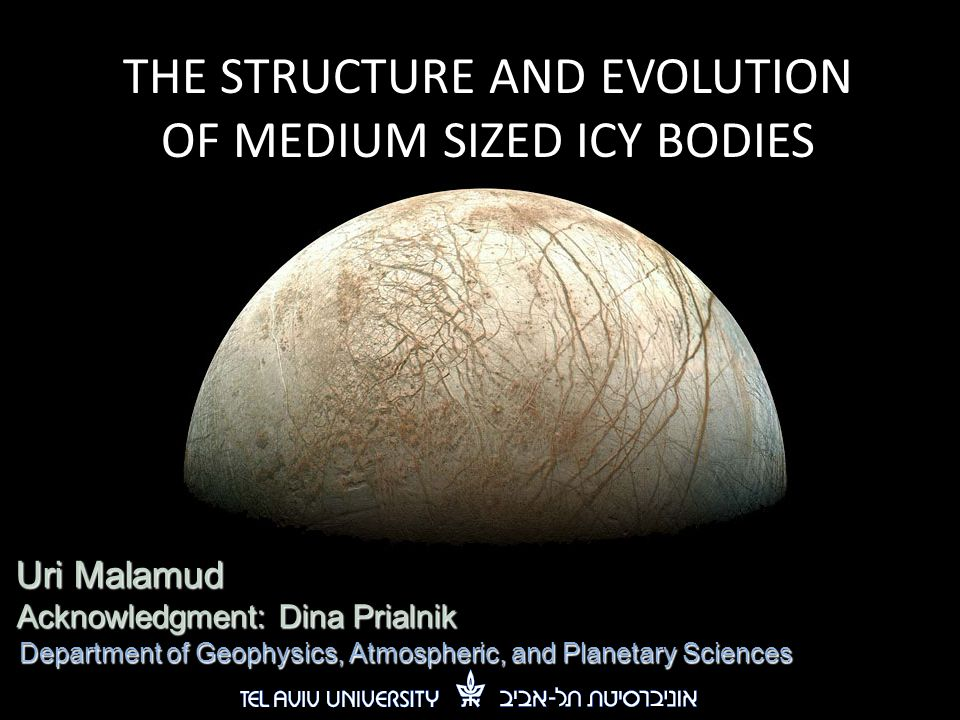 THE STRUCTURE AND EVOLUTION OF MEDIUM SIZED ICY BODIES