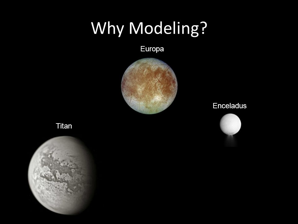 Why Modeling Europa Enceladus Titan