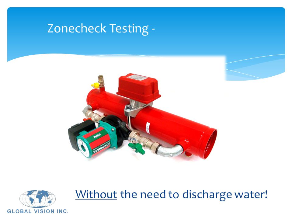 Zonecheck Testing - Without the need to discharge water!