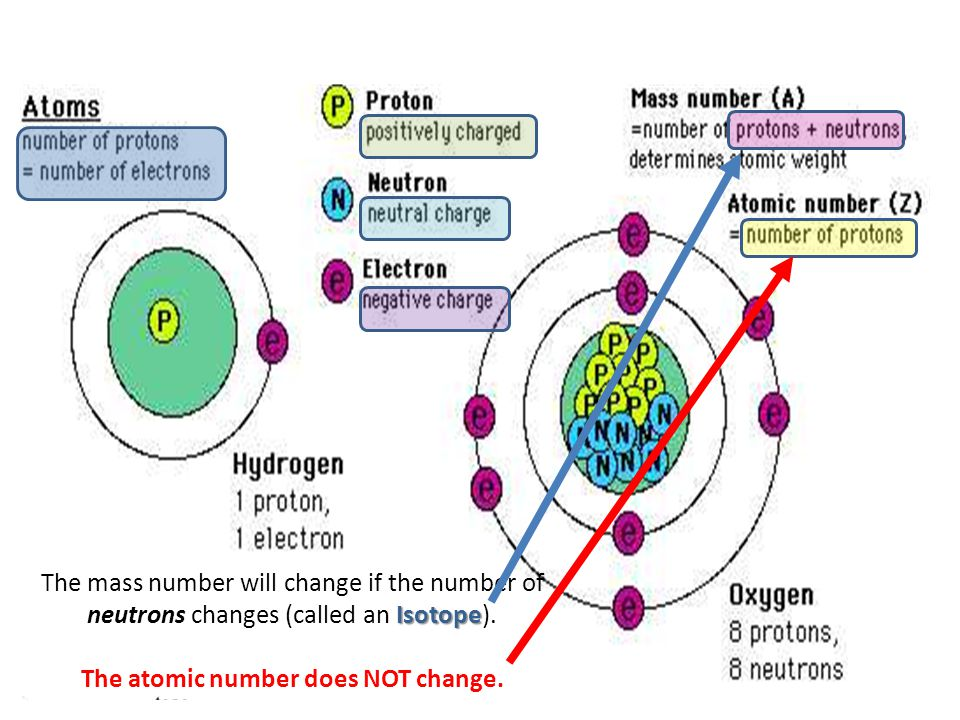 The atomic number does NOT change.