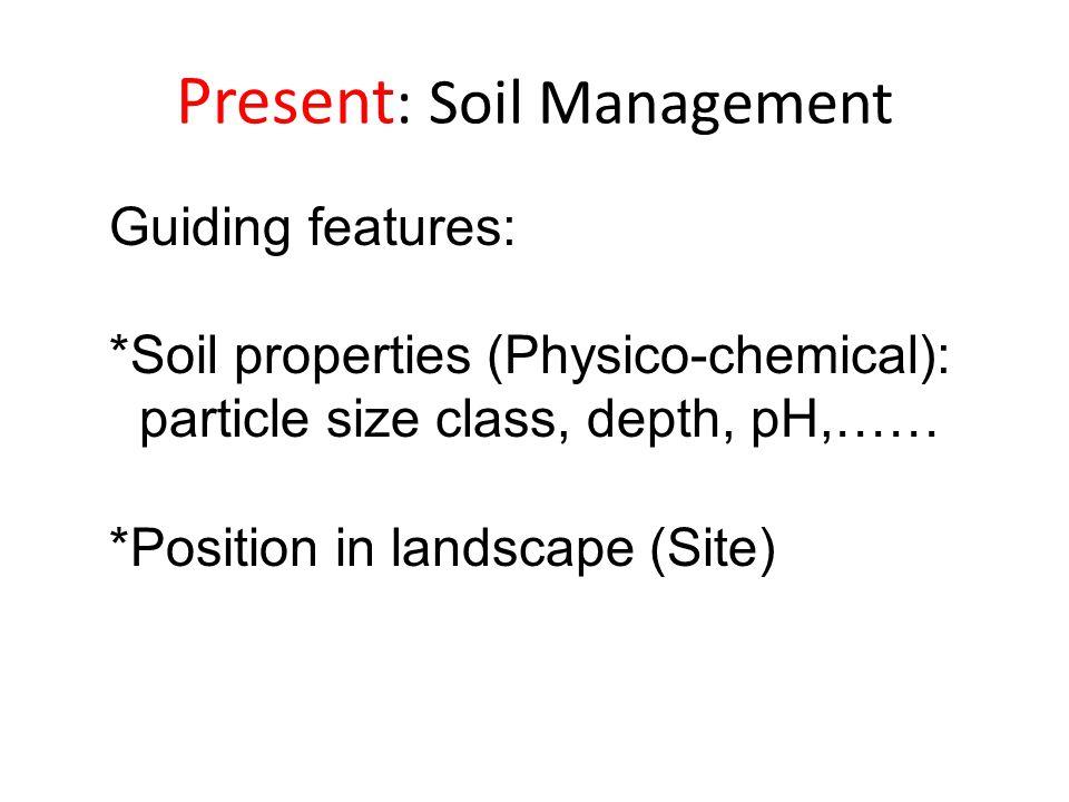 Present: Soil Management