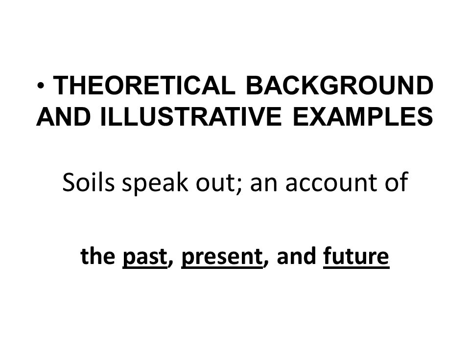 Soils speak out; an account of