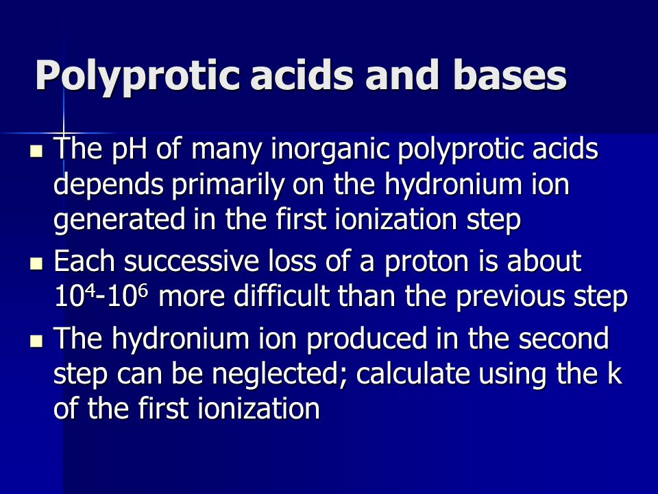 Polyprotic acids and bases