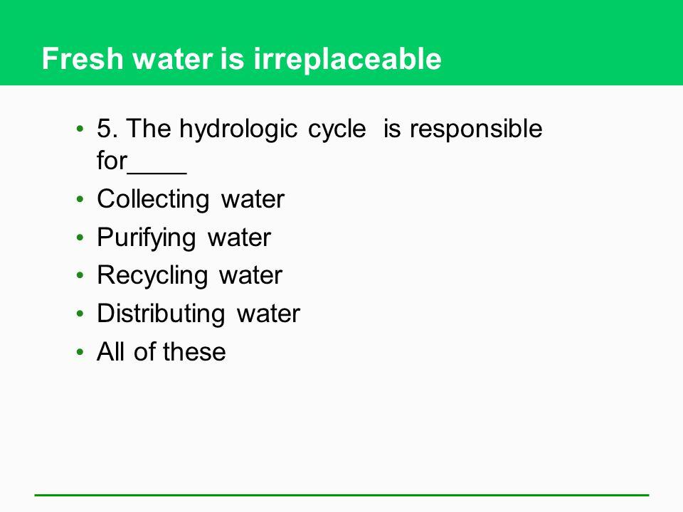 Fresh water is irreplaceable