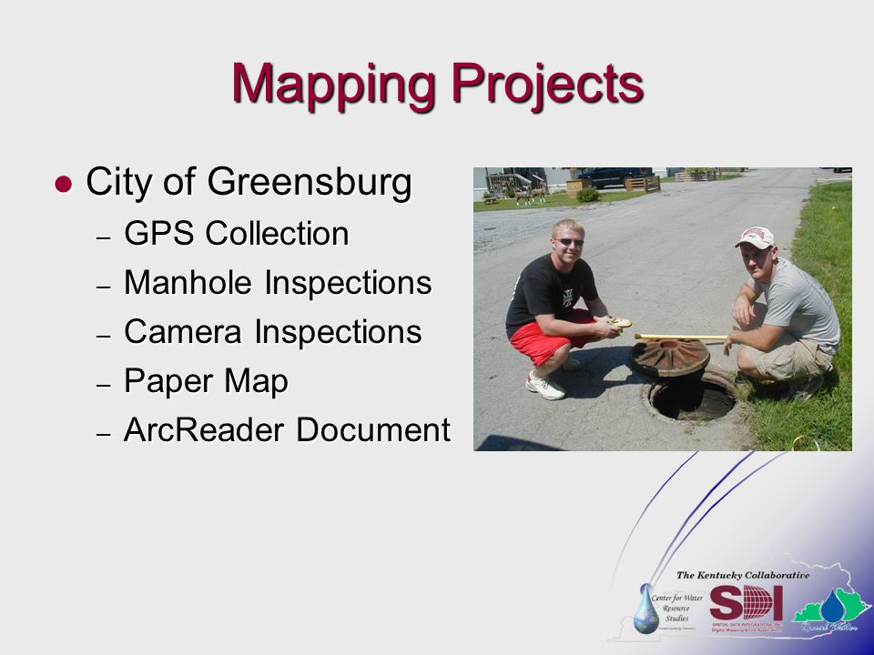Mapping Projects City of Greensburg GPS Collection Manhole Inspections