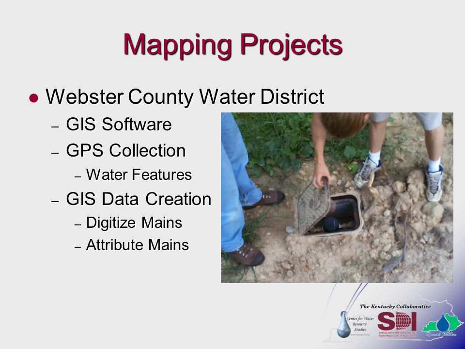 Mapping Projects Webster County Water District GIS Software