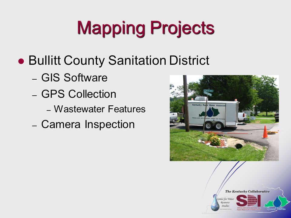 Mapping Projects Bullitt County Sanitation District GIS Software