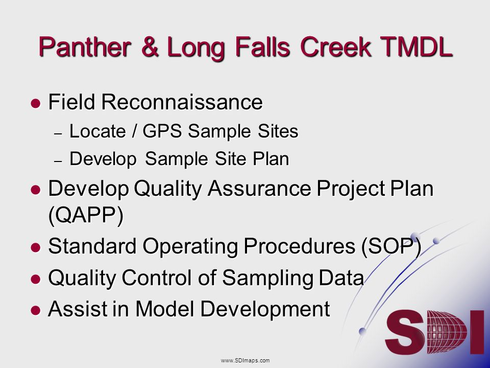 Panther & Long Falls Creek TMDL
