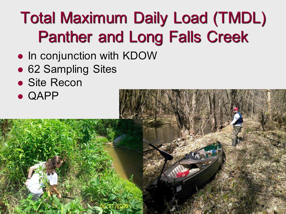 Total Maximum Daily Load (TMDL) Panther and Long Falls Creek