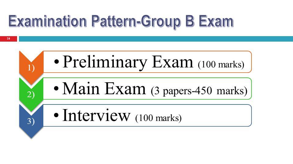 Preliminary Exam (100 marks)