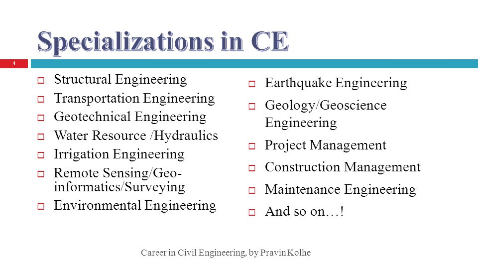 Specializations in CE Structural Engineering Earthquake Engineering