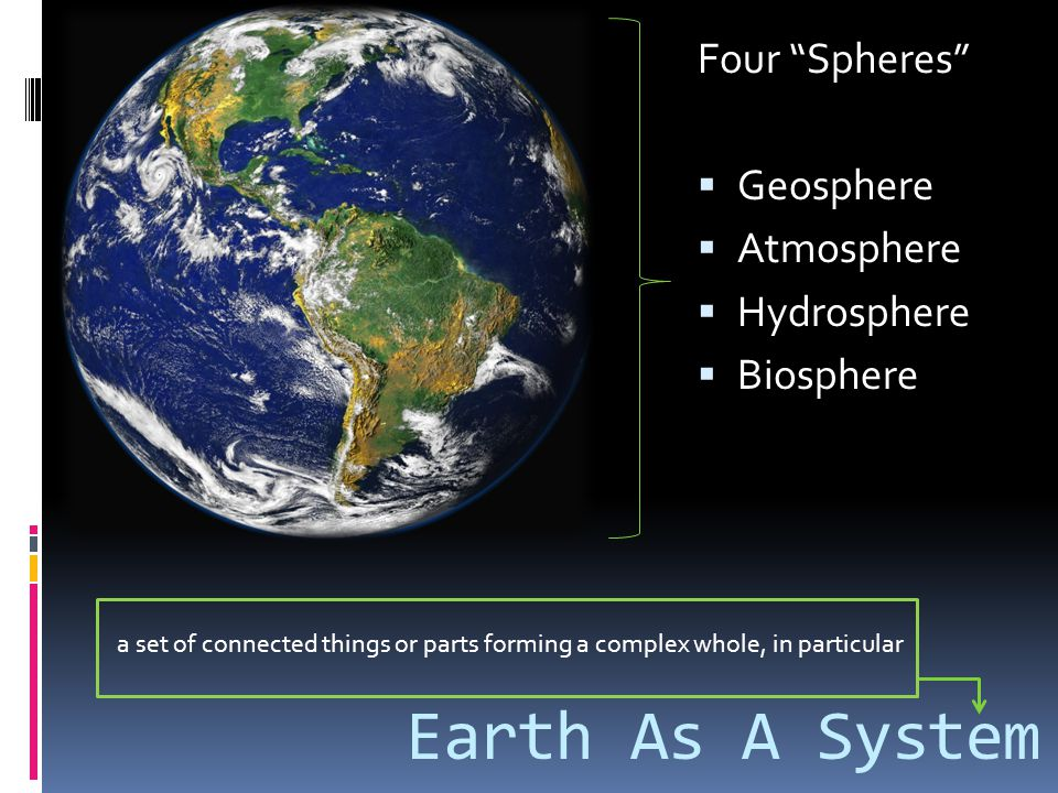 Earth As A System Four Spheres Geosphere Atmosphere Hydrosphere