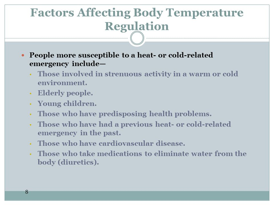 Factors Affecting Body Temperature Regulation